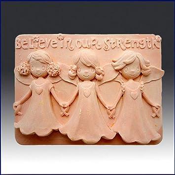 Creo en nuestra fuerza - detalle de alta alivio escultura - silicona jabón/arcilla de polímero de//Porcelana fría Mold: Amazon.es: Juguetes y juegos