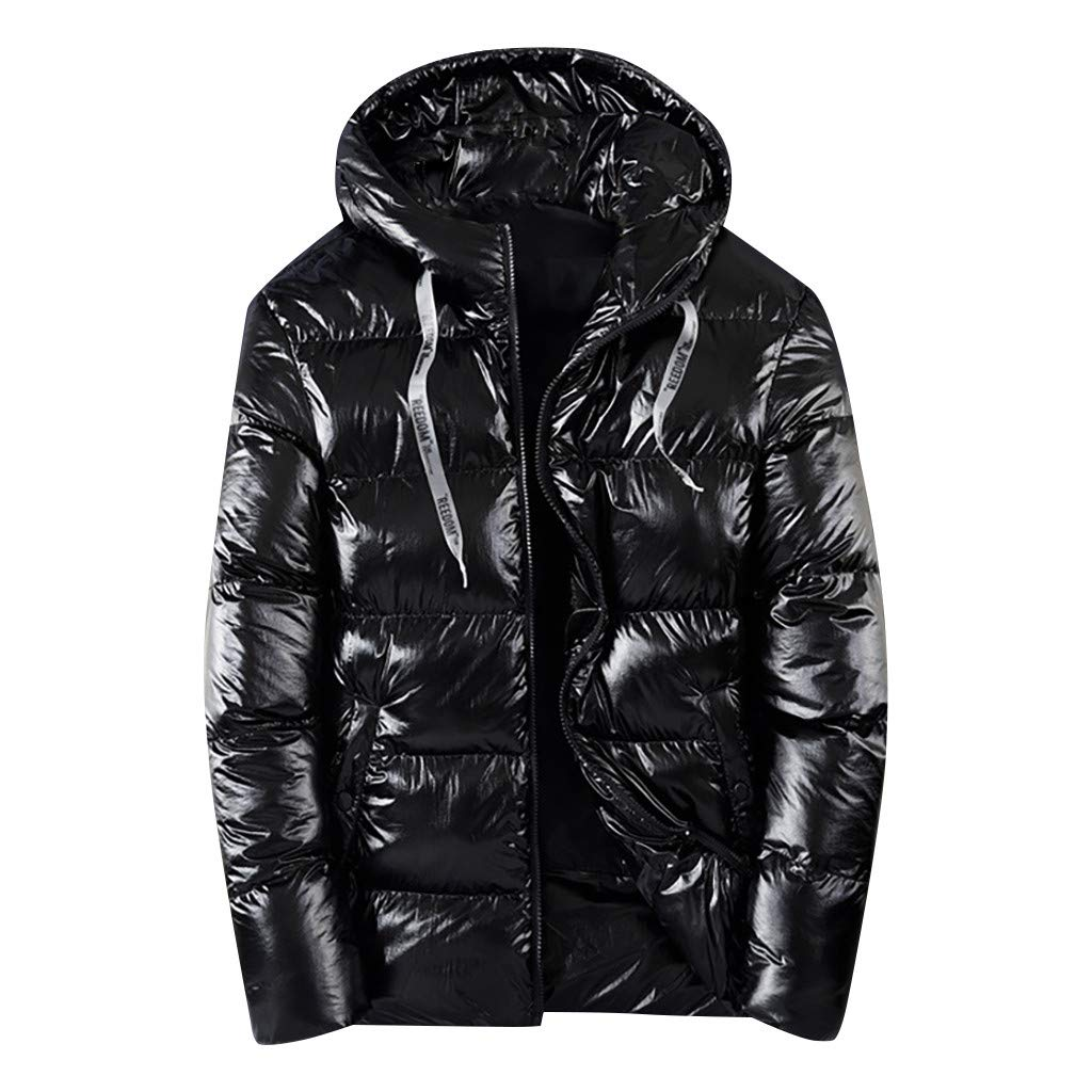 Eoeth New Intelligent Heated Heating Coat Zipper Wind Resistant Jacket USB Electric Heating Down Jackets Overcoat Tunic Black by Eoeth