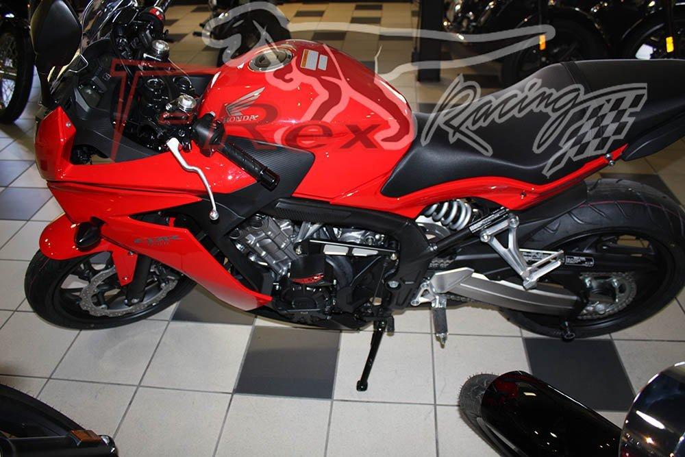 Red T-Rex Racing 2014-2019 Honda CBR650F No Cut Frame Sliders