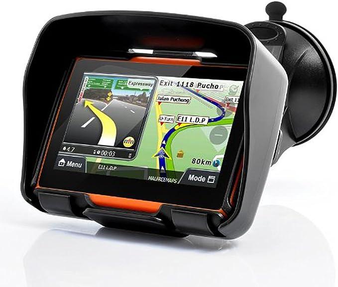 Excelvan W-40 Navegador GPS Bluetooth para Motos Coches Vehículos 4.3