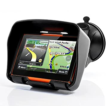"Excelvan W-40 Navegador GPS Bluetooth para Motos Coches Vehículos 4.3"" (Impermeable IPX7"