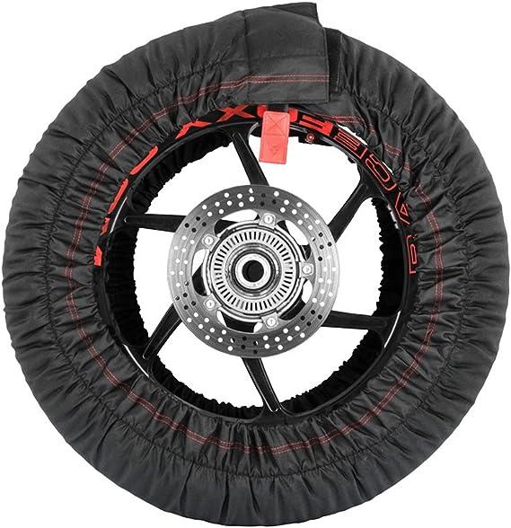 Reifenwärmer Tire Warmers Racefoxx Basic 100 C Heiztemperatur Superbike 120 17 Vorne Und 180 Bis 200 17 Hinten Motorradreifen Rennsport Rennstrecke Reifen Auto
