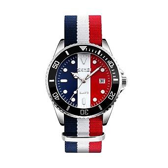 e4ee42d009 Amazon   Rockyu ブランド メンズ 男女兼用 腕時計 オシャレ 日付 サファイアガラス 海外ブランド マルチカラー メンズ時計    メンズ腕時計   腕時計 通販