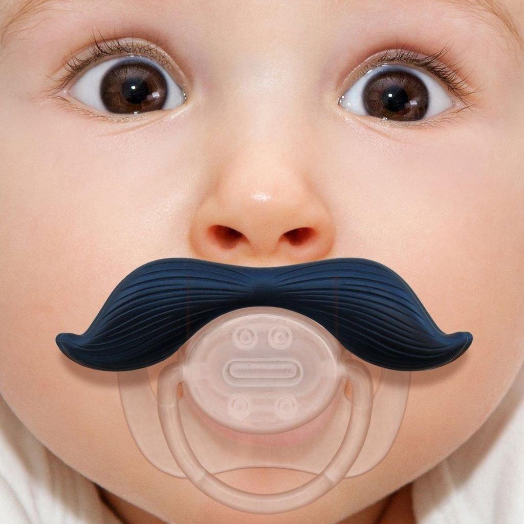 Amazon.com: anddis bebé caballero barba bigote chupete para ...