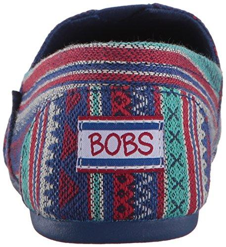Skechers Womens Bobs Plush-lil Fox Ballet Platblauw