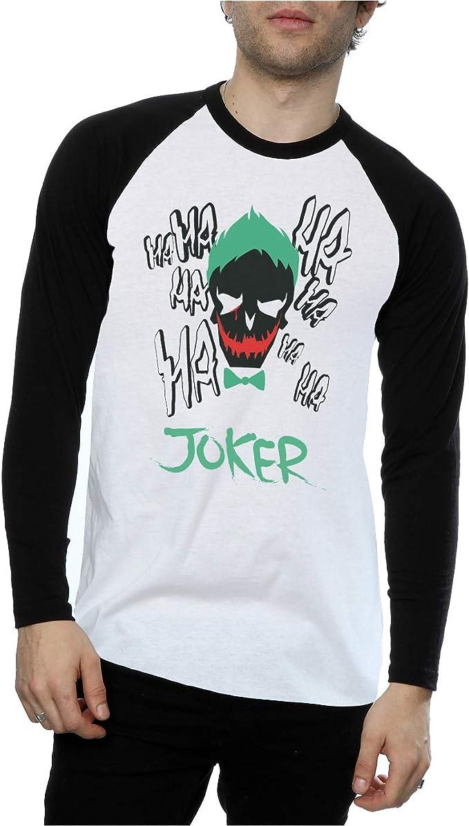 Suicide Squad hombre Joker Icon Camisa de manga larga de béisbol: Amazon.es: Ropa y accesorios