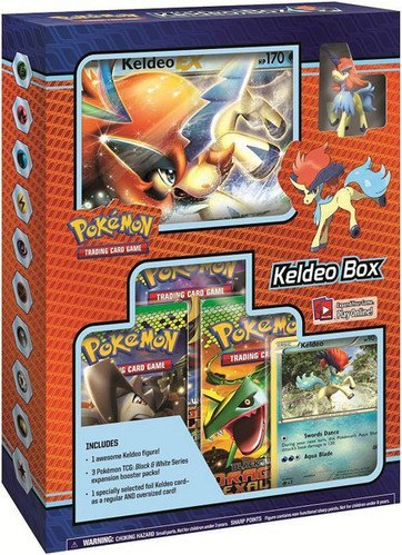 Pokemon Black & White Card Game Keldeo Box [3 Booster Packs, 2 Holo Promo Cards & 1 Legendary Figure]