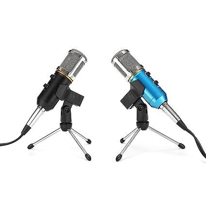 Amazon.com: MK-F200TL Audio USB Condensador Micrófono Sonido ...