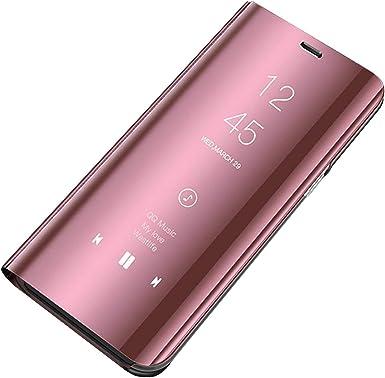 Carcasa Galaxy S8 Plus Funda Case Mirror Funda Flip Tapa Libro Carcasa Funda de Espejo Flip Caso Galaxy S8 tirón del Duro Espejo Soporte Shell Cover para Samsung Galaxy S8 plus (s8,