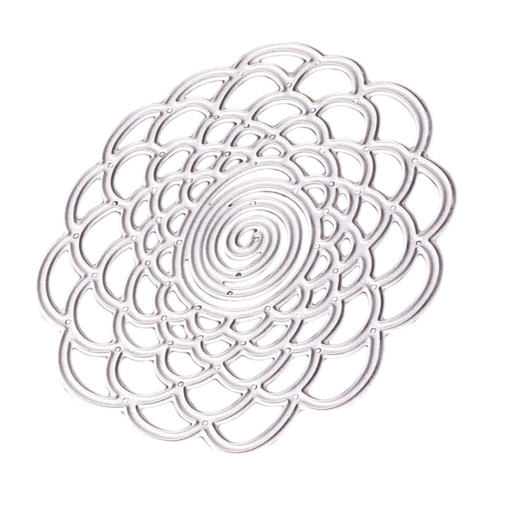 MagiDeal Metall Blume Metall Schneiden Schablonen f/ür DIY Scrapbooking Album Sammelalbum Deko
