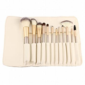 LZYMSZ 12 piezas Set de pinceles maquillaje profesional Kit de maquillaje esencial con estuche de pincel