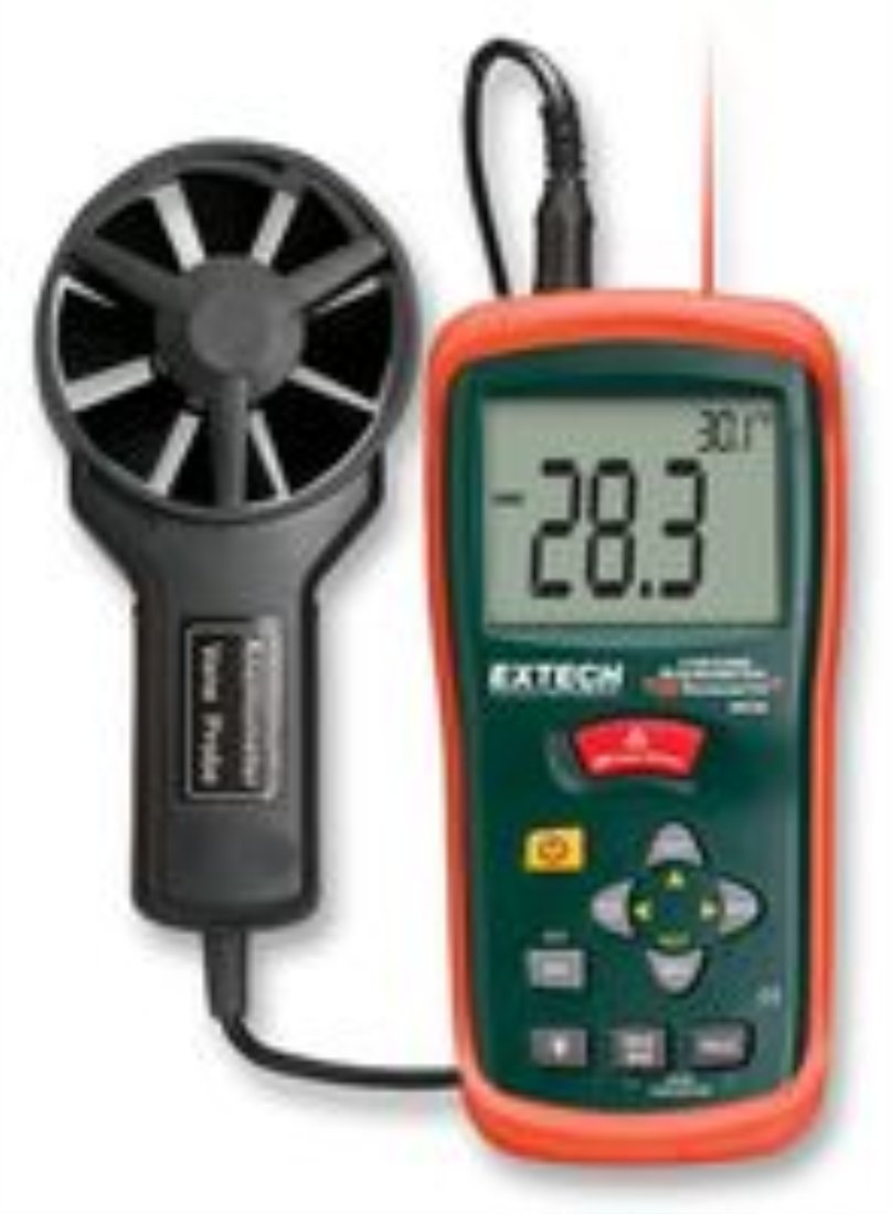 Extech Instruments AN200 Anemometer, CFM/cmm with Built-In Ir Thermometer Thomas Scientific