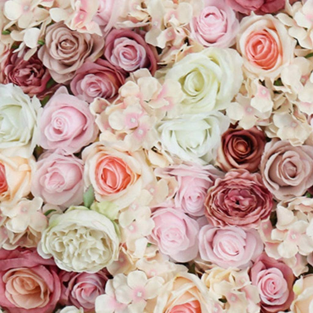 Color : H Love-huaqiang Flower Wall Backdrop-Simulation Fake Flower Decoration Background Wall Wedding Hotel Site Layout Landscaping Photography Background 4060