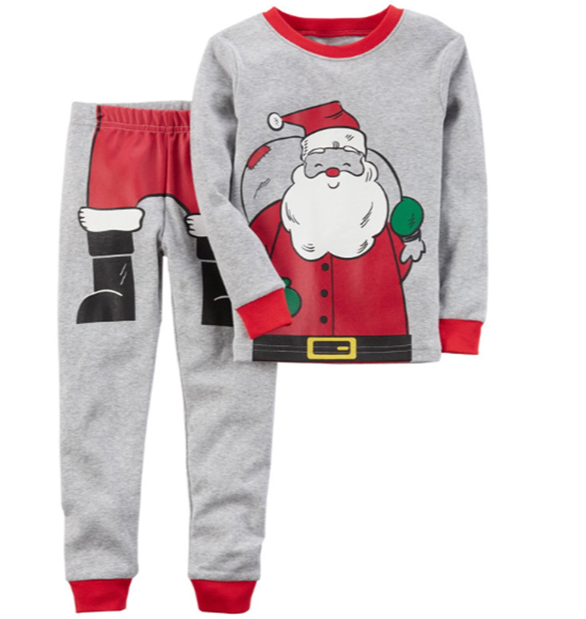 Little Boys Pajamas Sets For Christmas Santa Claus 100% Cotton Clothes Toddler Kid Nightgown