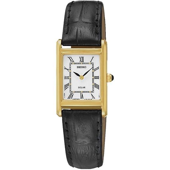 Seiko Reloj Analógico de Cuarzo Unisex con Correa de Cuero - SUP250P1   Amazon.es  Relojes 08cb33fc35e2