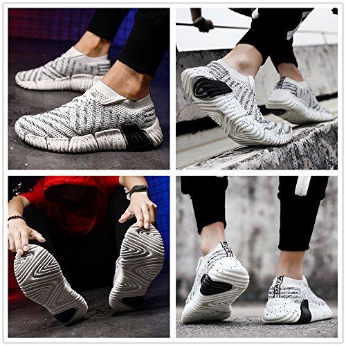 Chaussures de Course Baskets pour Hommes Sport Légères Sport Respirantes Gymnastique Antidérapantes à Lacets Sneaker de Jogging Running Entraînement Mode Gris ah2sii0