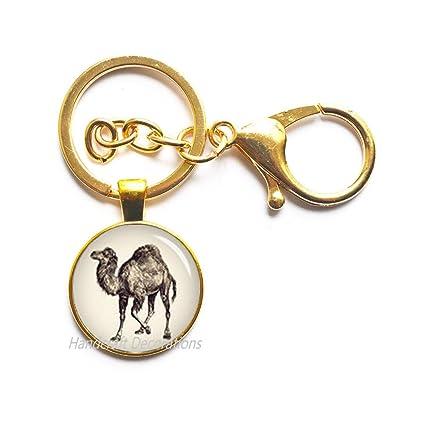 Llavero de camel, joyería de camello, amante de los animales ...