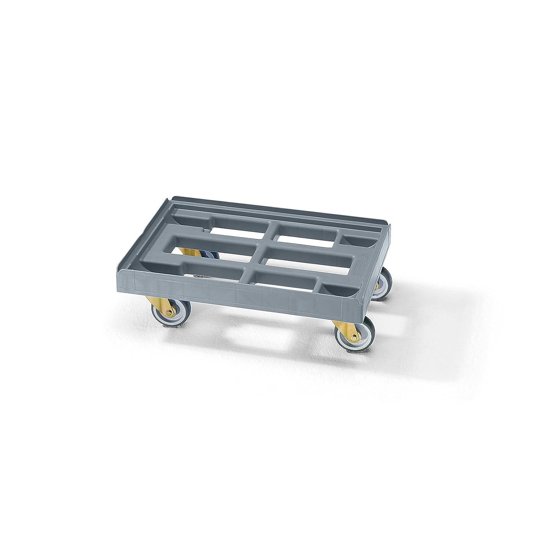 aus HDPE Transportroller Kistenroller Kistenroller Transportroller Transportroller schwarz LxB 610 x 410 mm E.S.B