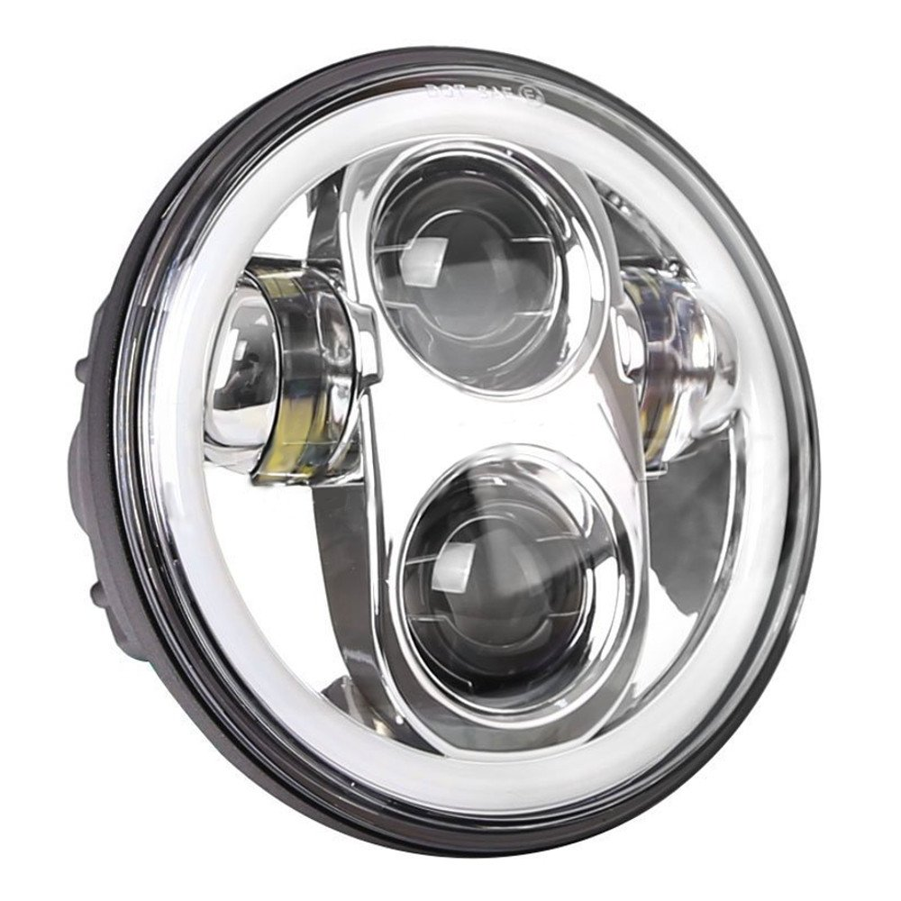 Eagle Lights 5 3 4 Generation Ii Led Headlight With Exciting Scout Crafts 1 Or 2 Headlamp White Halo Ring Chrome For Harley Sportster Dyna Indian And More Automotive