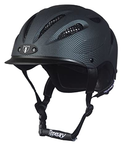 3021b1b79d7a1 Tipperary Sportage Western Riding Helmet Low Profile Horse Safety Carbon  Grey (XS)