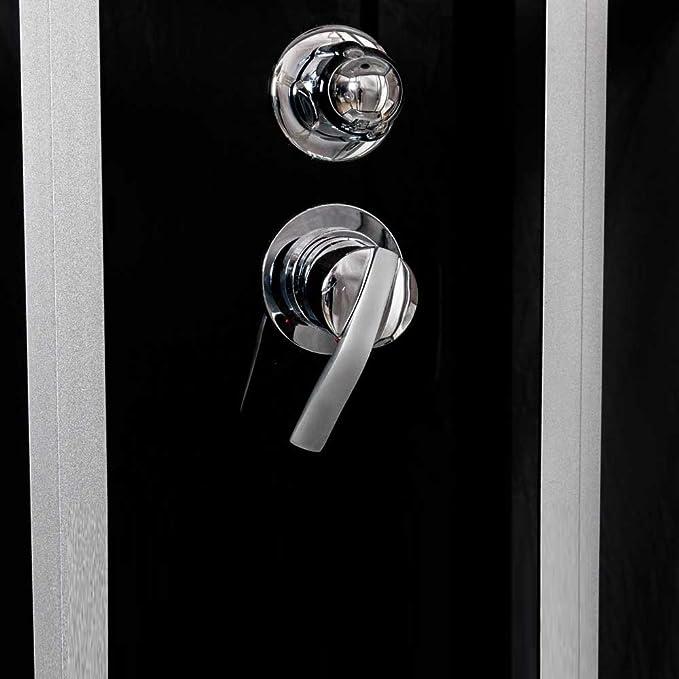 Tronitechnik ducha de vapor templo de duchas de baño de ducha de hidromasaje cabina de ducha 170 x 90 colour negro: Amazon.es: Hogar