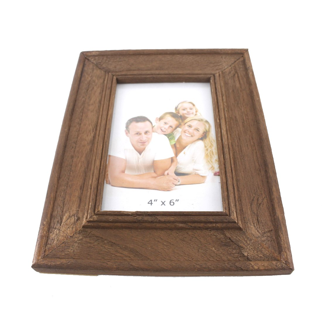 4x6 Inches Simple Rectangular Wood Desktop Family Picture Photo Frame with Glass Front Blue and White Homesweeter1900