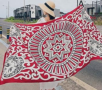 PLYY Toalla de Playa Pañuelo Protector Solar Pañuelo de Mujer de Doble Uso Primavera y Otoño