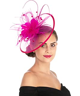 093ba93ad50cd Caprilite Large Black Fascinator Veil Headband Wedding Ascot Races ...