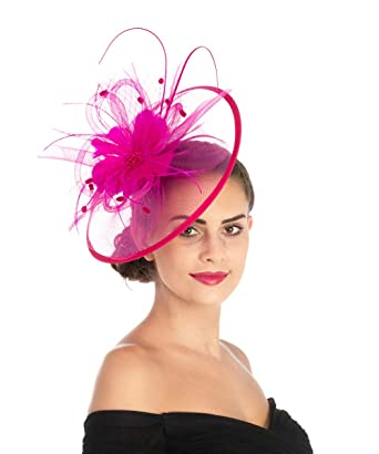 73221ea7c Lucky Leaf Women Girl Fascinators Hair Clip Hairpin Hat Feather Cocktail  Wedding Tea Party Hat and Hairband for Women