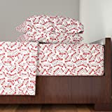 Roostery Hello 3pc Sheet Set Hello. My Name Is. by Studiofibonacci Twin Sheet Set made with