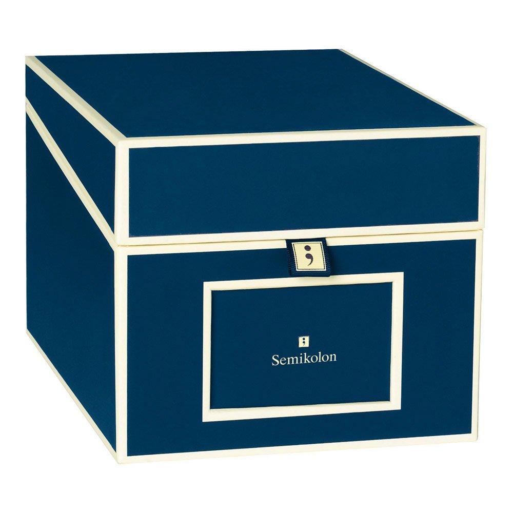 Semikolon Multimedia CD/DVD/Photo Storage Box, Marine Blue (31803)