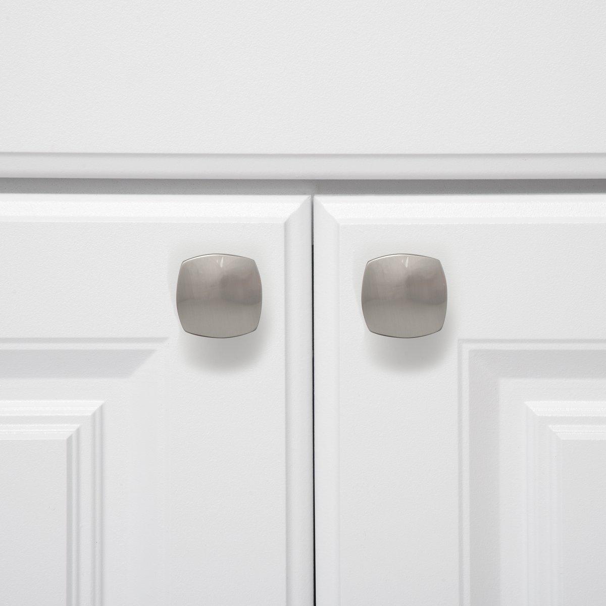 M/öbelgriff 25er-Pack Basics Ge/öltes Bronze quadratisch Schubladenknopf abgerundete Kanten Durchmesser: 3,2 cm