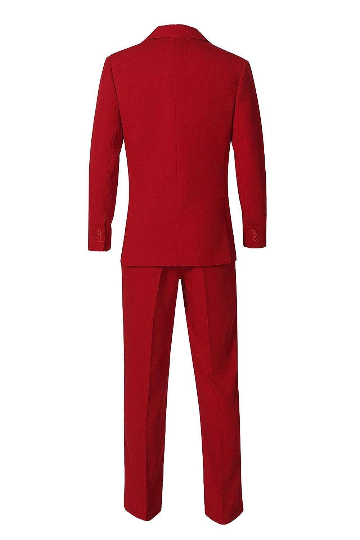 Amazon.com: Mens Retro Clown Red Suit for Joker Cosplay ...