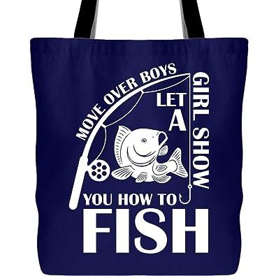 Amazon.com: Bolsas de lona para niñas de pesca, para regalar ...