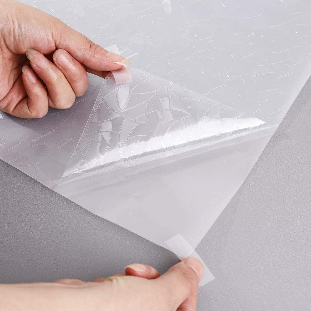 Lifetree 3D Rainbow Window Privacy Film autocollant d/écoratif pour fen/être en verre teint/é non adh/ésif pour fen/être 44,5 x 150 cm