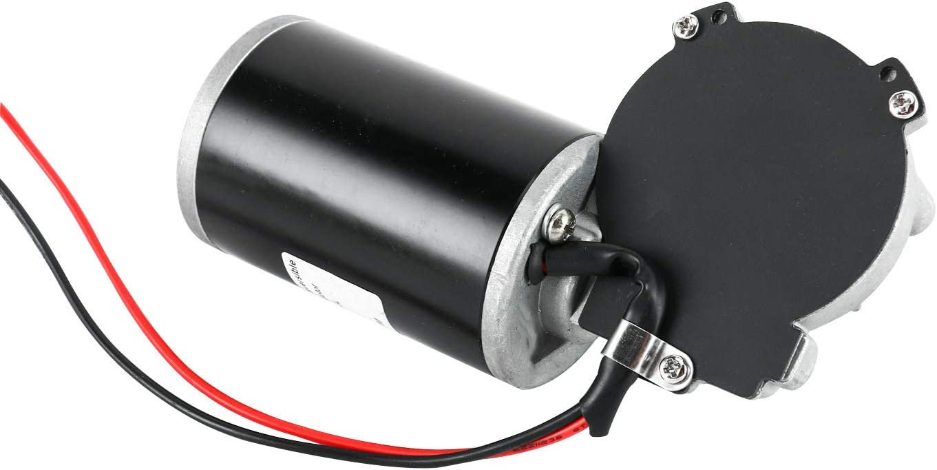 Yaegoo DC24V 80W 160RPM Reversible Worm Gear Motor Reversible Electric Gear Motor High Torque Speed Reducing Electric Gearbox Motor
