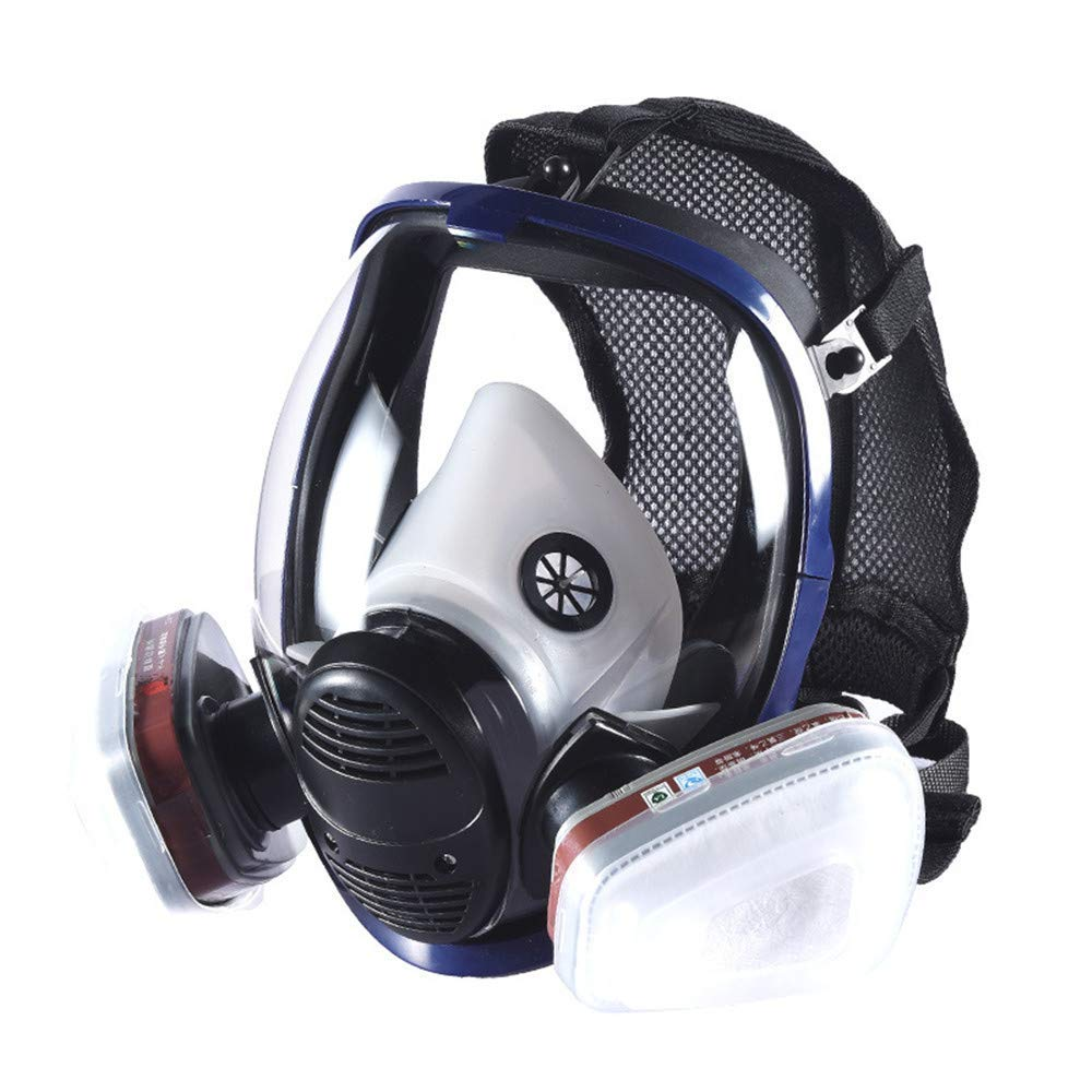Organic Vapor Full Face Respirator With Visor Protection For Paint, Chemicals, Polish, Pesticides Protection by Smartera