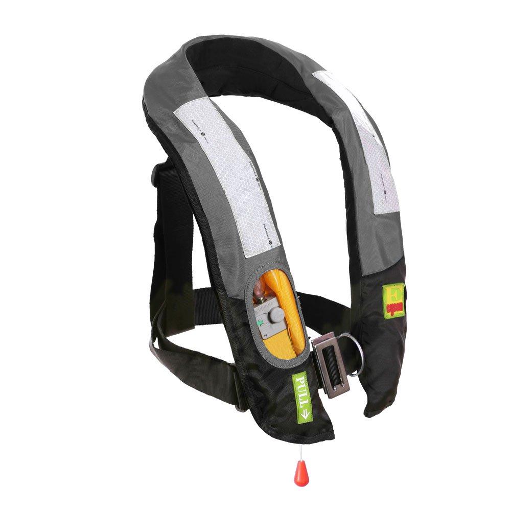 Eyson Slim Inflatable PFD Life Jacket Life Vest Adult Manual (ES639717 Grey)