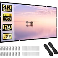 Projector Screen 100 inch 16:9 HD Foldable Anti-Crease Portable Projection Movies Screen for Home Theater Outdoor Indoor…