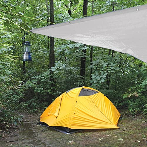 Ideal for Tarpaulin Canopy Tent Camping /& Shelters 10mil Boat RV Or Pool Cover Performance Tool W7004 Reinforced Water Resistant Multi Purpose Heavy Duty Silver Tarp 8-Feet X 10-Feet Perfect for Backpacking