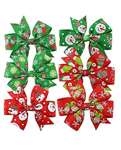 Christmas Hair Bows For Toddlers.Yoioy Christmas Hair Bows Hair Clips For Baby Girls Toddlers