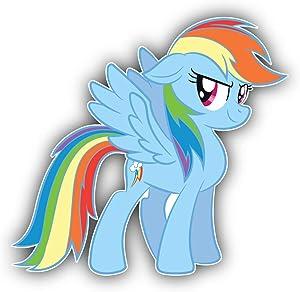 valstick My Little Pony Rainbow Dash Cartoon Car Bumper Sticker Decal