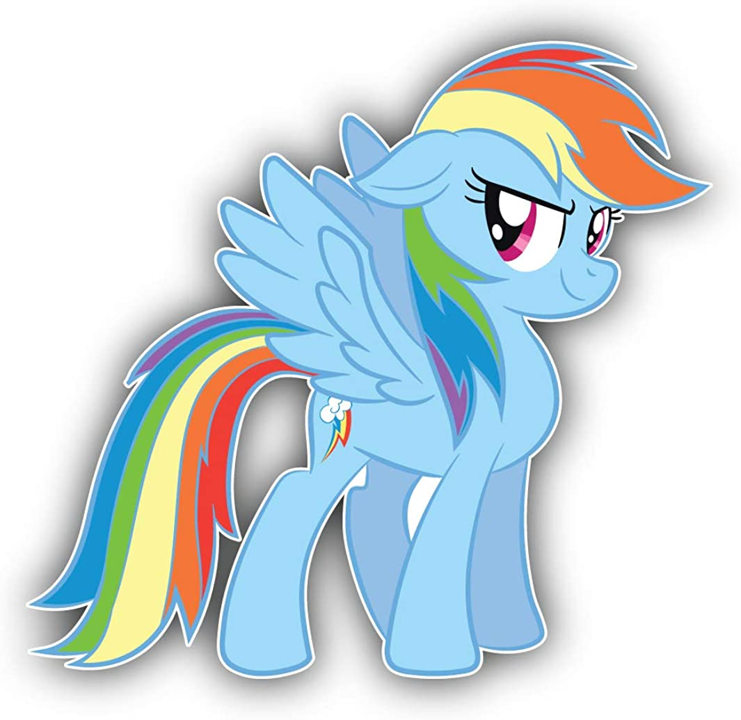 valstick My Little Pony Rainbow Dash Cartoon Car Bumper Sticker Decal