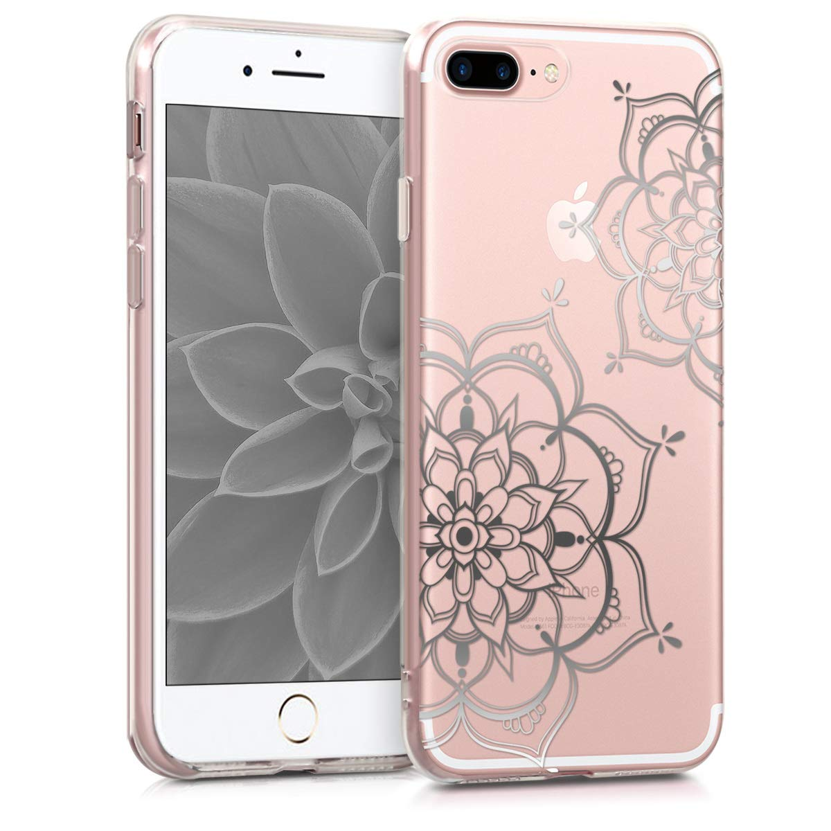 coque iphone 7 fleurie transparant