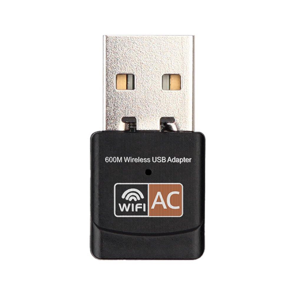 Asiproper 600 Mbps double bande 2, 4 G/5 G Hz Wireless LAN USB PC adaptateur WiFi 802.11 ac 4G/5G Hz Wireless LAN USB PC adaptateur WiFi 802.11ac