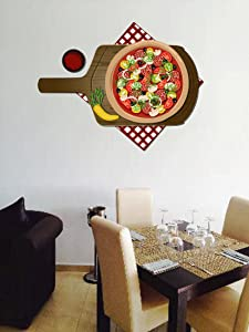 STICKERSFORLIFE cik561 Full Color Wall Decal Pizza Sauce Snack Food Pizza Restaurant