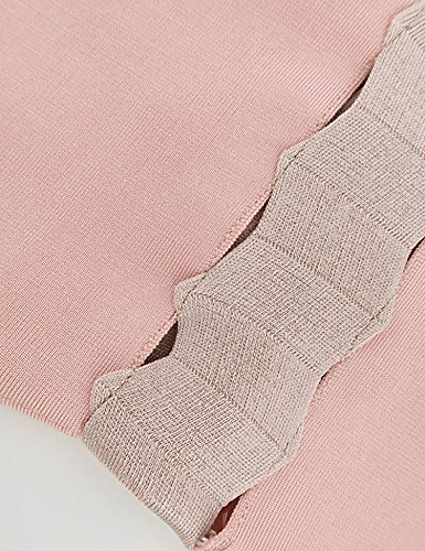 Meilun Des Femmes De L'épaule Évider Bandage Robe Moulante Rose