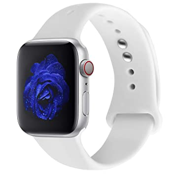 entrega rápida mejor precio para oferta Straper★ Correa Apple Watch 38mm (Series 4 40mm) / 42mm (Series 4 44mm),  Silicona Suave Correas Reloj Apple Watch Pulsera para iWatch Apple Watch ...