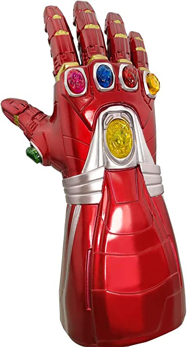 Xxf Iron Man Infinity Guantelete De Iron Man Guante De Infinito De Iron Man Con Luz De Piedra Para Fiesta De Halloween Para Adultos Clothing