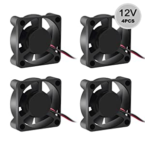 Dorhea 30x30x10mm 12V Fan DC Brushless Cooling Fan 3010 DC 12V for DIY 3D Printer Extruder Hotend V6 V5 CPU Arduino Humidifier 2Pin (4 PCS)